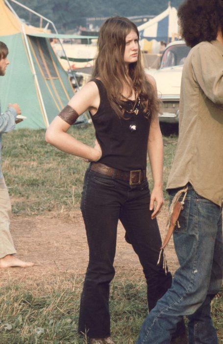 chicas en Woodstock
