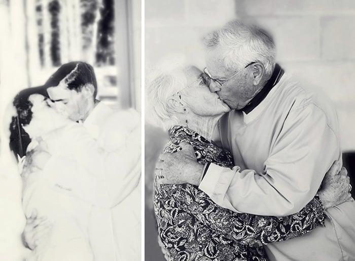 abuelos antes y 60 años después