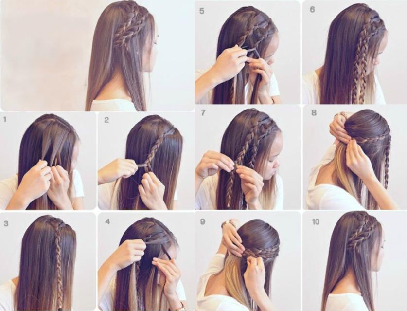 mujer cabello castao tutorial peinados
