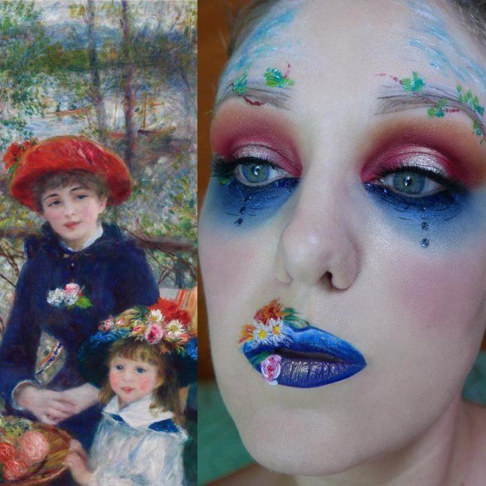 maquillista como cuadro de Renoir