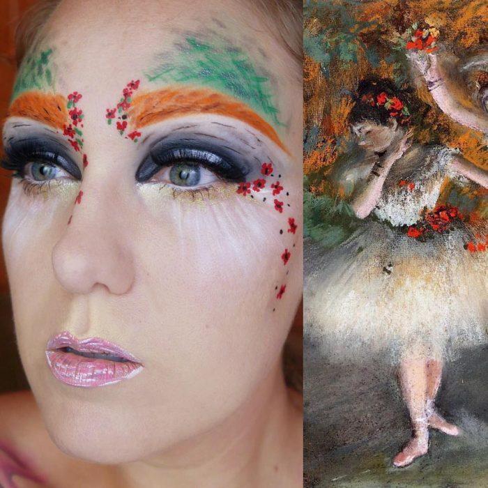 maquillista como cuadro de Degas