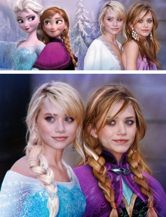 hermanas gelemas y princesas de dinsey frozen