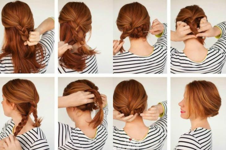 tutorial peinados mujer pelirroja chongo
