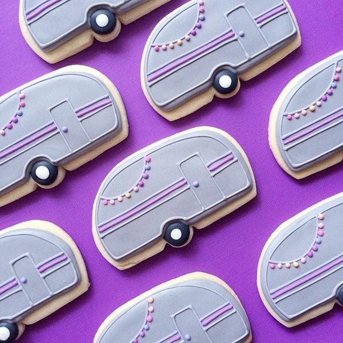 repostería galletas de colores mini van