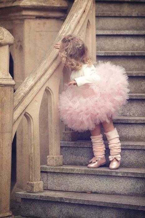 Pequeña disfrazada de bailarina