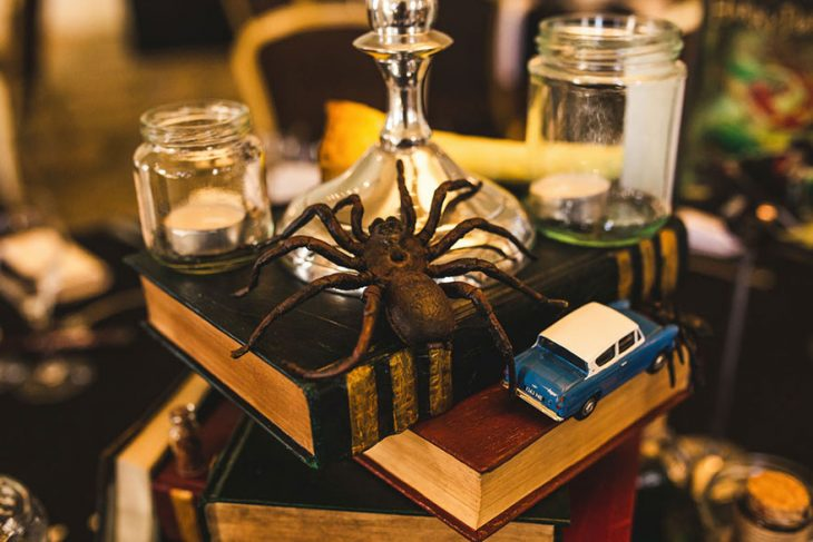 Escena de la película de Harry Potter con una araña