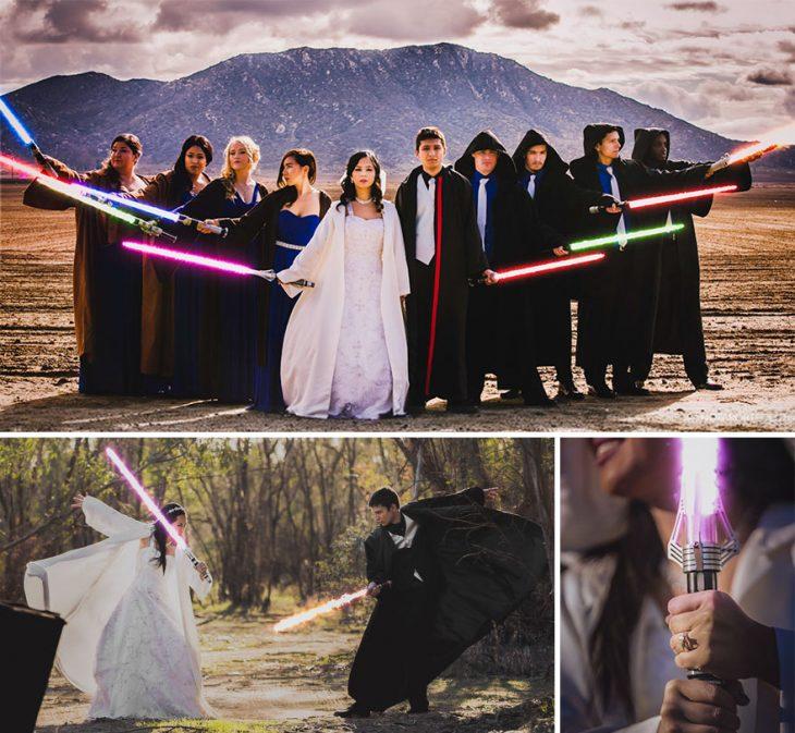 Fotos sesión de boda al estilo Star Wars