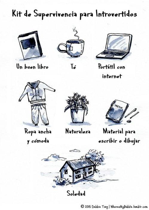 Imagen kit de supervivencia para introvertidos