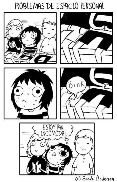 Ilustración introvertidos problemas de espacio personal