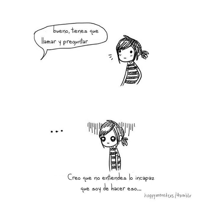Ilustración cuando un introvertidos tiene que llamar