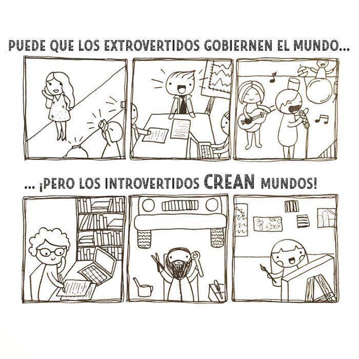 Ilustración introvertidos crean mundos