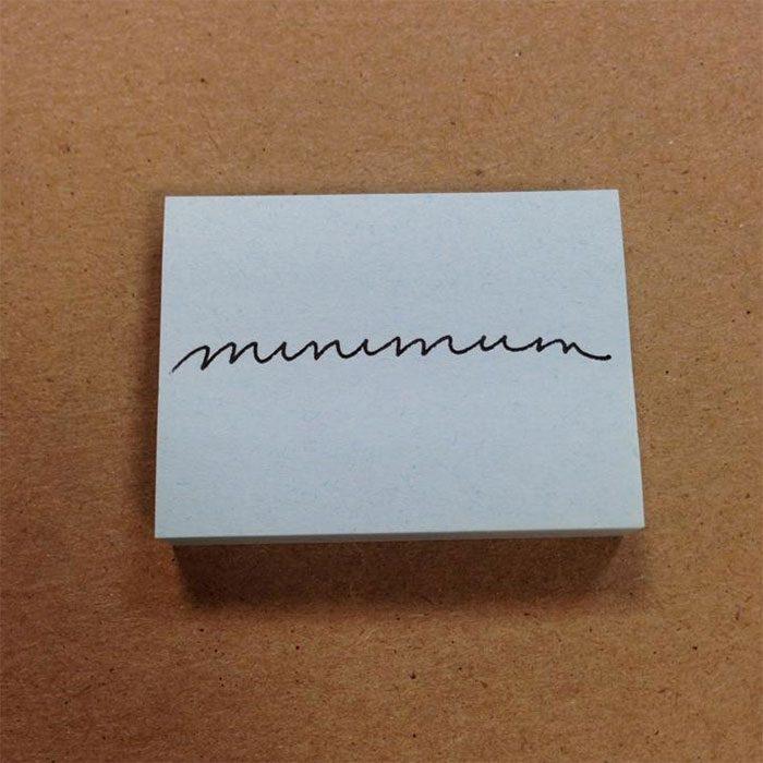 Nota escrita con caligrafía