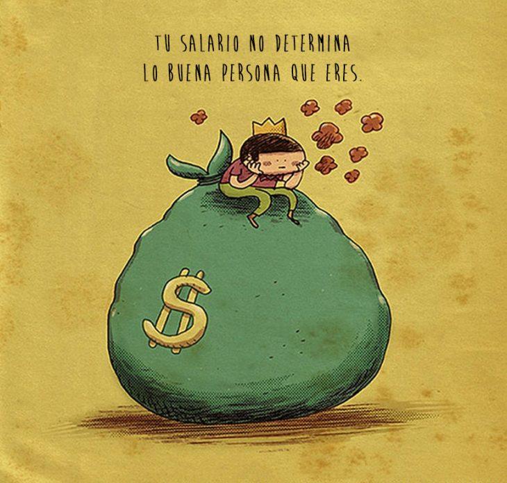 Ilustración cosas que nadie me dijo: tu salario