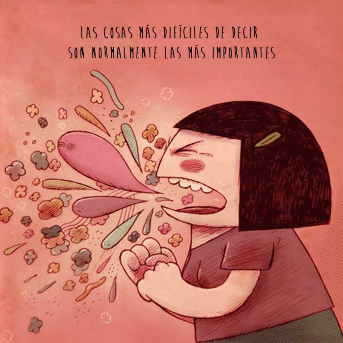 Ilustración cosas que nadie me dijo: cosas difíciles de decir