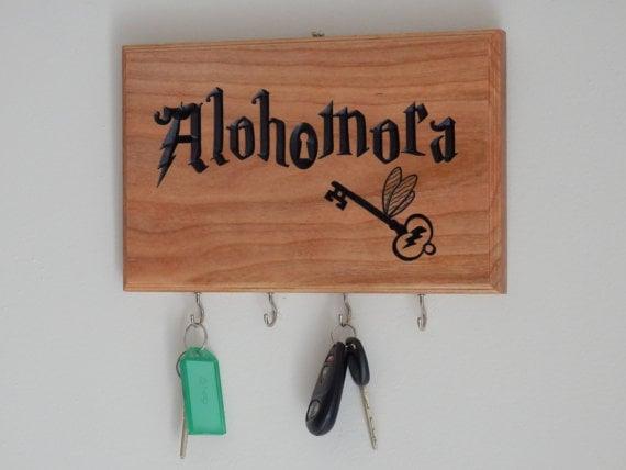Porta llaves inspirado en frases de Harry Potter