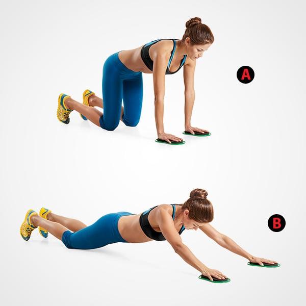 Chica realizando ejercicios de Slide Out