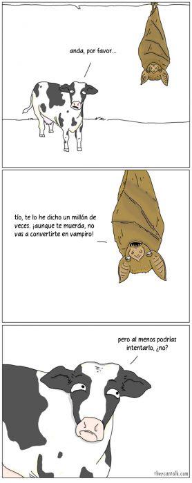 Ilustración de un murciélago hablando