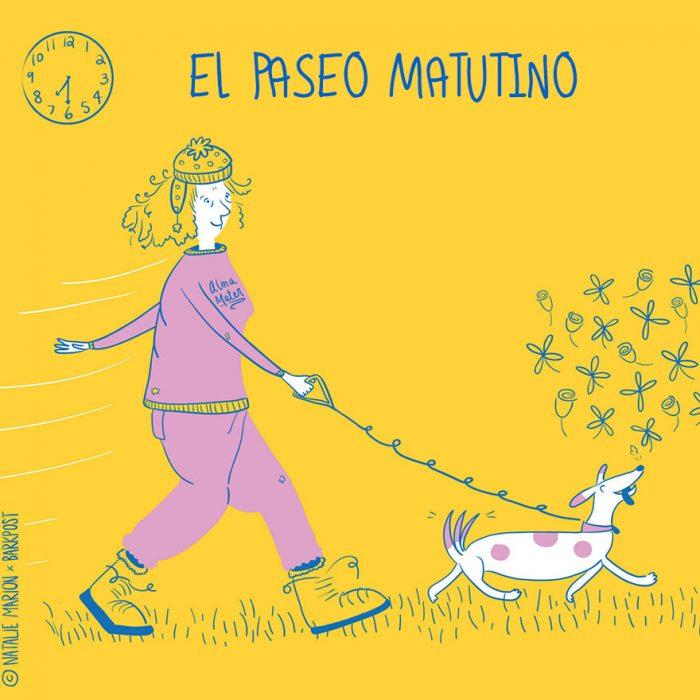 Ilustración ser mamá es: El paseo matutino