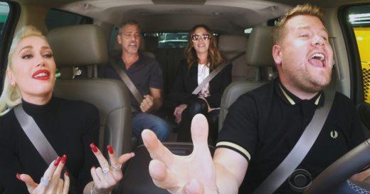 Gwen Stefani, George Clooney y Julia Roberts enloquecieron al mundo en 'Karaoke en el auto'