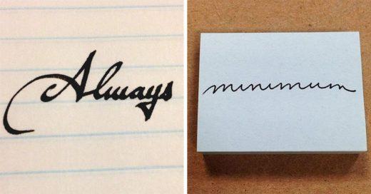 Imágenes de escritos con caligrafía perfecta que te causaran un orgasmo visual