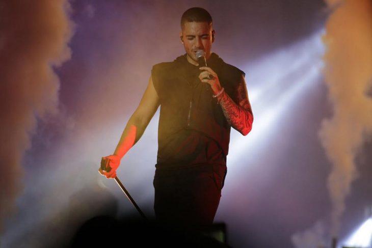 Maluma en el escenario