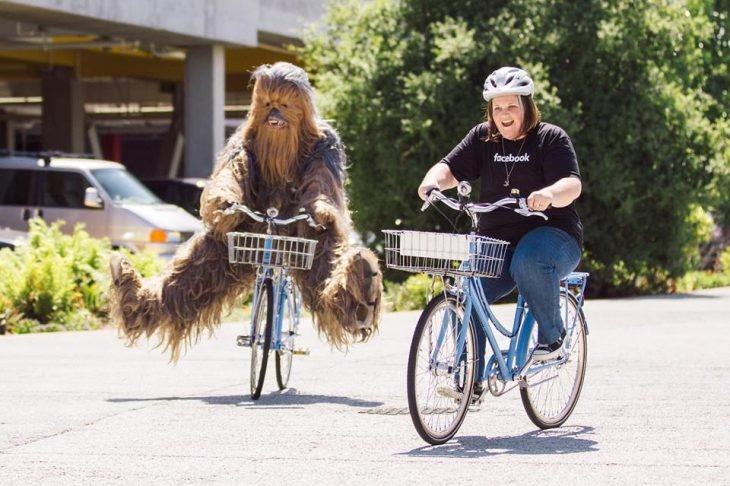 Candance Payne y Chewbacca en Facebook