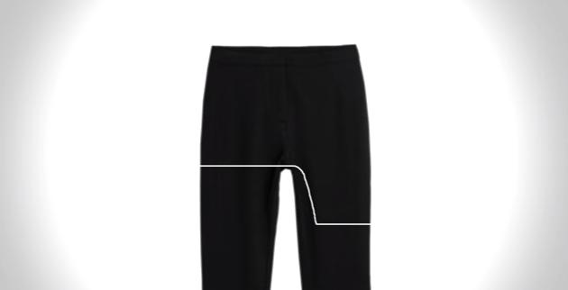 mallones de color negro con una linea en medio