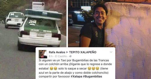 Un colchón fue robado en Xalapa y Facebook lo recuperó en menos de ocho horas