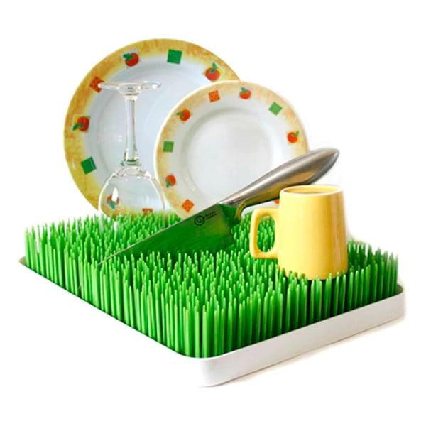 Traaste para secar los platos en forma de jardín