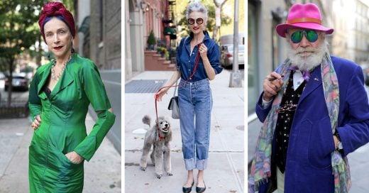 Todos los protagonistas de estas fantásticas fotografías son adultos de 60 años, pero estamos seguras que no destacan por su edad, sino por su impecable sentido del estilo.