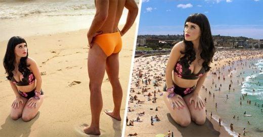 Batalla de photoshop de foto de Katy Perry frente a un hombre