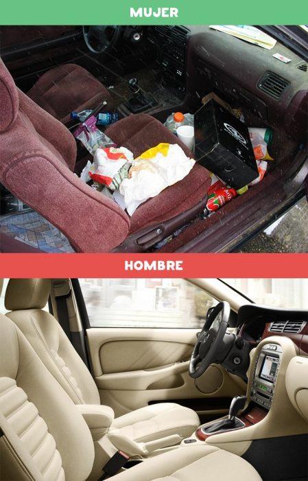 DIFERENCIAS HOMBRES MUJERES - Carro de mujers y carro de hombres