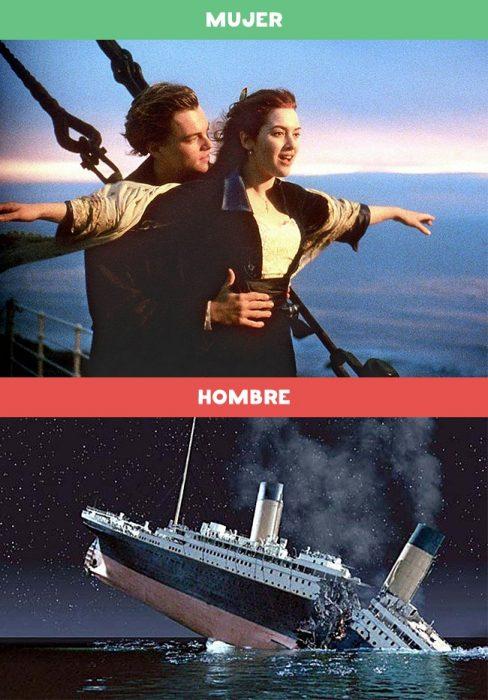 DIFERENCIAS HOMBRES MUJERES - Porqué a las mujeres les gusta ver Titanic y porqué a los hombres les gusta ver Titanic