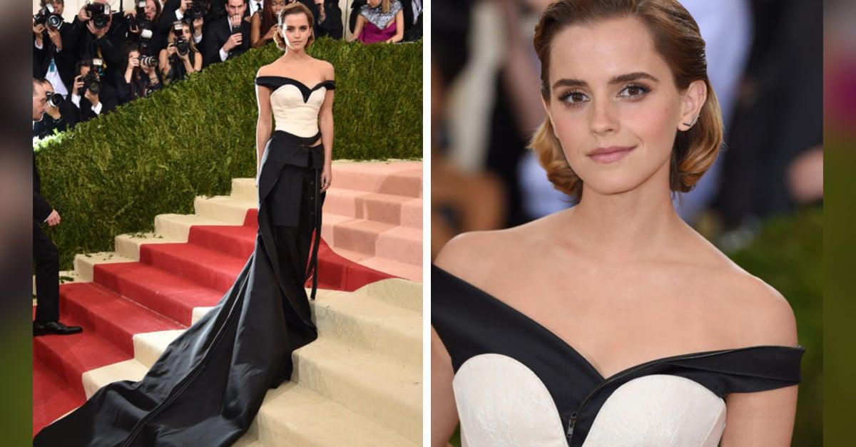 Emma Watson esa vestido hecho de basura