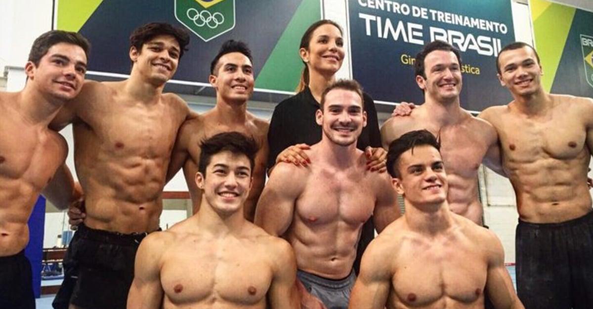 El equipo brasileño masculino de gimnasia