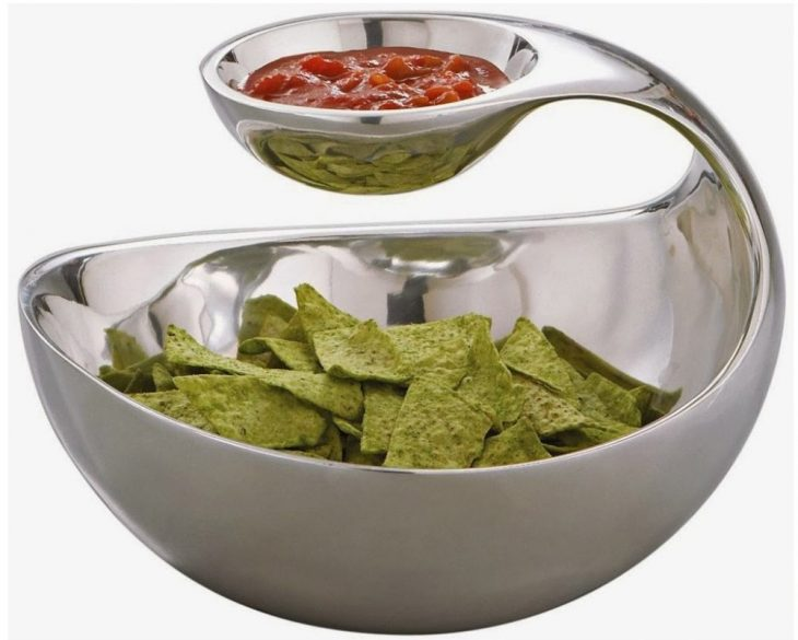 tazon con compartimiento para salsa