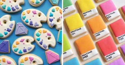 Esto pasa cuando una diseñadora gráfica hornea galletas