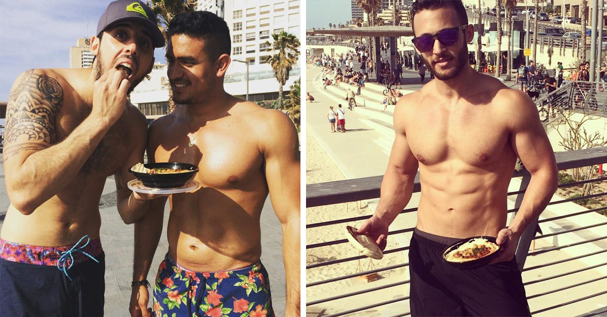 fotografías de hombres sexys y el hummus