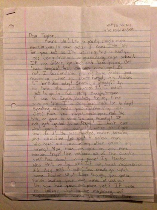 Padres hallan carta de su hija fallecida para ella misma