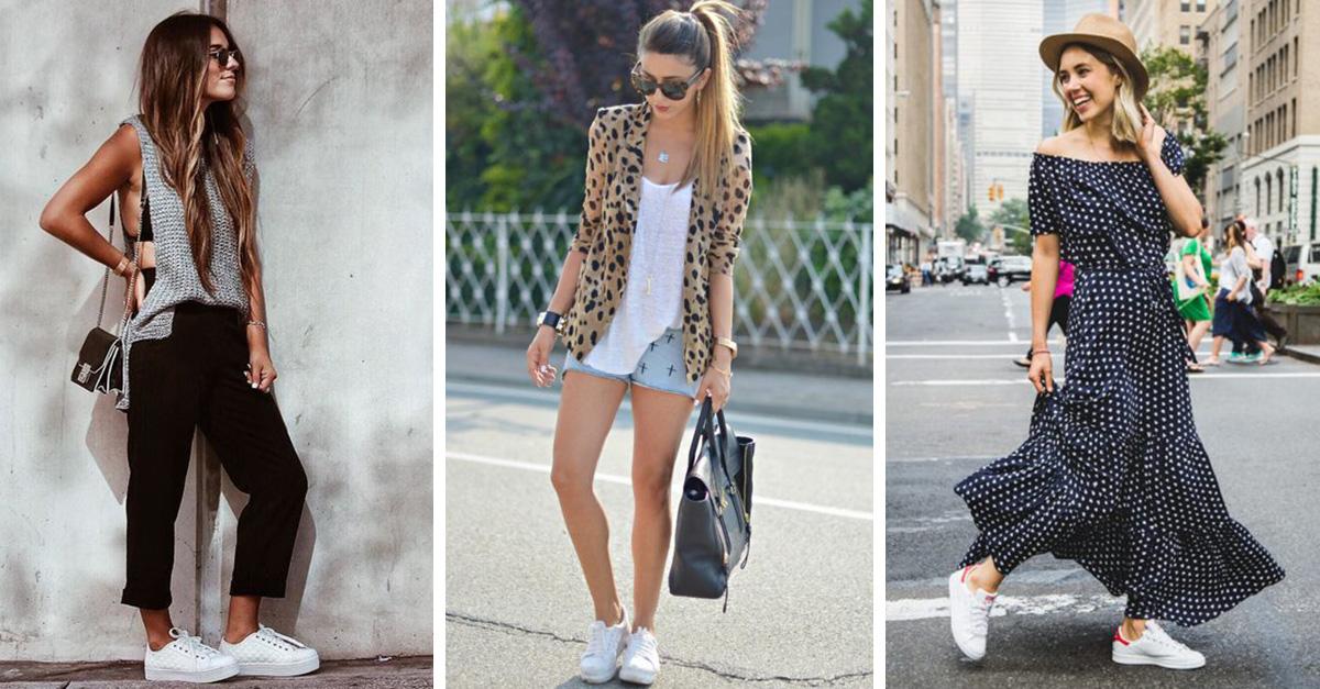 Looks con zapatillas blancas que tienes que probar ahora mismo