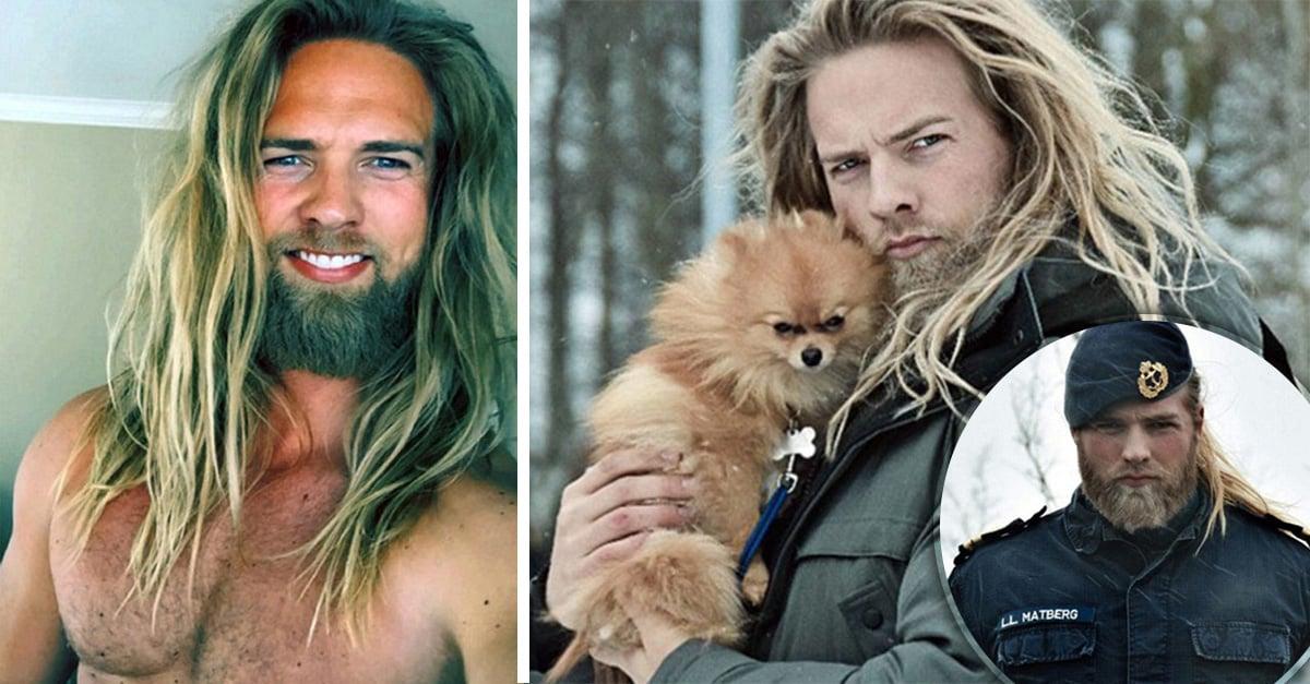 oficial noruego de la Marina que se ha convertido en el vikingo más sexi de Internet