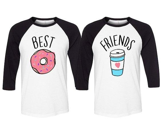 Blusas para mejores amigas con estampados