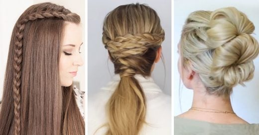 19 peinados faciles y rapidos que puedes hacer en minutos - Como hacer peinado para boda ...