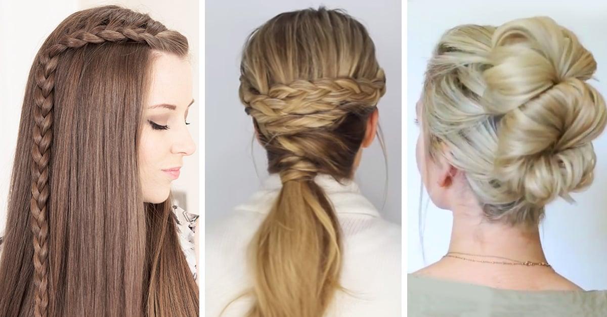 15 peinados que puedes hacer en 10 minutos cuando es tarde - Peinados de semirecogido ...