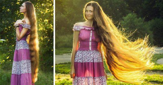 esta chica es básicamente Rapunzel en la vida real