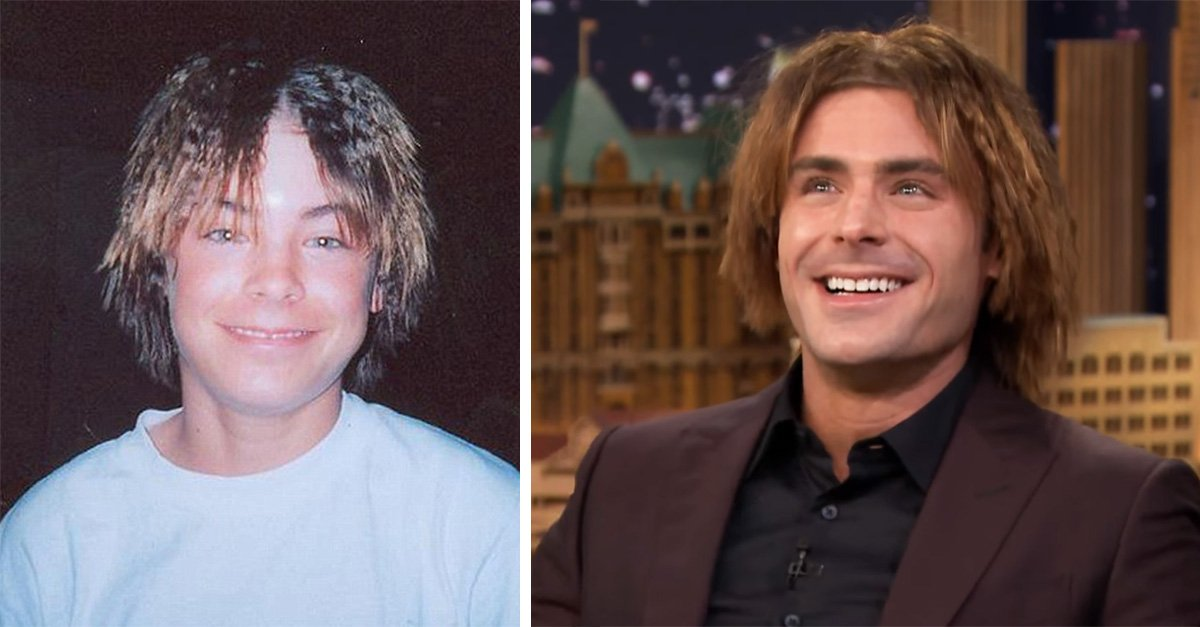 "Zac Efron recrea fotografía de su infancia en ""The Tonight Show"""