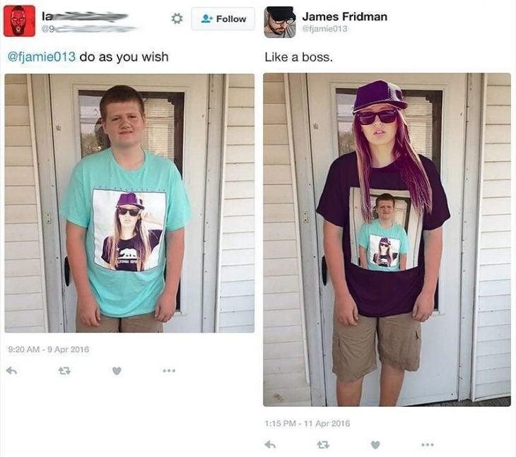 Broma con photoshop mujer con gorra