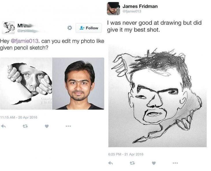 Broma con photoshop dibujo de hombre