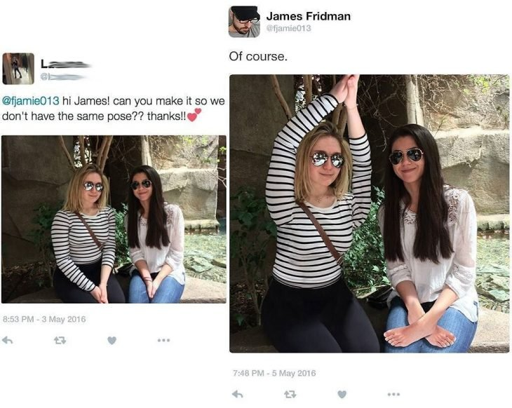 Broma con photoshop mujeres sentadas