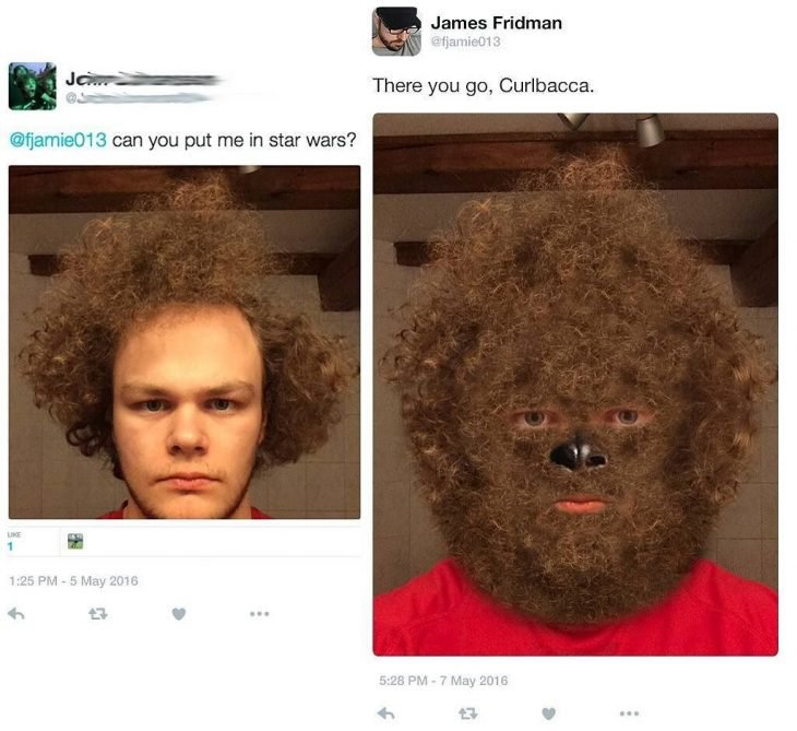 Broma con photoshop hombre peludo